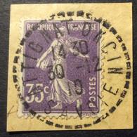 142 ° 4 Savoie Attignat Oncin Semeuse 35c Violet 30/12/1910 Oblitéré - 1877-1920: Periodo Semi Moderne
