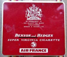 Boite A Cigarettes BENSON And HEDGES  AIR FRANCE - Etuis à Cigarettes Vides