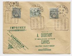 BLANC 1CX2+15C ORPHELIN DEFECTUEUX BELLE ENVELOPPE ROUGE AU DOS  SOUVENIR POSTAL DAGUIN AMIENS 28.7.30 SOMME - 1900-29 Blanc