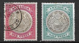 Antigua N° 19 Neuf * Et N° 20  Oblitéré       B/T B  Voir Scans  Soldé Le Moins Cher Du Site  ! ! ! - 1858-1960 Kolonie Van De Kroon