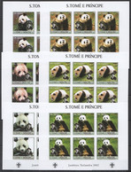 KV022 IMPERFORATE 2003 SAO TOME & PRINCIPE FAUNA ANIMALS PANDA SCOUTING 6SET MNH - Ours