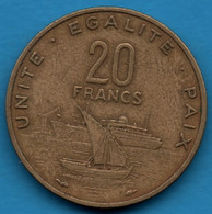 DJIBOUTI 20 FRANCS 1977 KM# 24 - Djibouti