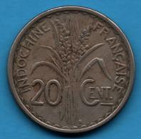 INDOCHINE FRANÇAISE 20 CENTIMES 1941 S  KM#23a.2 - Colonies