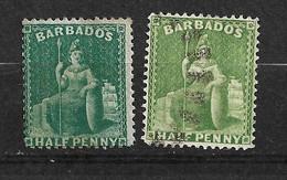 Barbades       UK  N° 26 Et 32    Oblitérés     B/TB  Voir Scans  Soldé Le Moins Cher Du Site  ! ! ! - Barbados (...-1966)