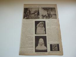 """Origineel Knipsel ( 3740 ) Uit Tijdschrift  """" Ons Land """"  1922 :  Alfred Pietercelle  Jef Witterwulghe Antw. Ukkel Uccle - Unclassified"""