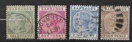 Barbades       UK  N° 39 à 41 Et 44   Oblitérés     B/TB  Voir Scans  Soldé Le Moins Cher Du Site  ! ! ! - Barbados (...-1966)
