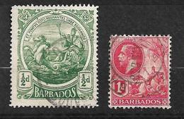 Barbades       UK  N° 94 Et 104      Oblitérés     B/TB  Voir Scans  Soldé Le Moins Cher Du Site  ! ! ! - Barbados (...-1966)