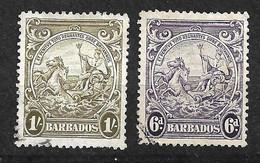 Barbades       UK  N° 173  Et 174      Oblitérés     B/TB  Voir Scans  Soldé Le Moins Cher Du Site  ! ! ! - Barbados (...-1966)