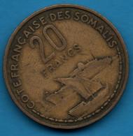 COTE FRANÇAISE DES SOMALIS 20 FRANCS 1952 KM# 7 (Djibouti) - Somalia