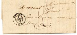 """1849. POISSY (72).TAXE 2D.""""LIGNE DU HAVRE. LAC. - 1849-1876: Classic Period"""