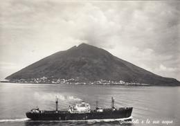 STROMBOLI-MESSINA-LE SUE ACQUE- CARTOLINA VERA FOTOGRAFIA- NON VIAGGIATA MA OBLITERATA  ASCI-25-6-1960-VEDERE RETRO - Messina