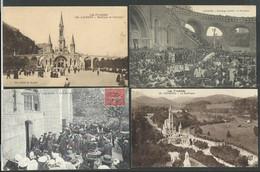 Hautes Pyrénées , Lourdes , Lots De 27 Cartes Postales Toutes Différentes Toutes Scannées - Lourdes