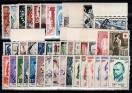 Année Complète 1956 N** Luxe , YV 1050 à 1090 , 41 Timbres Cote 165 Euros - 1950-1959