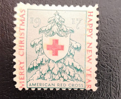 Vignette Timbre AMERICAN RED CROSS 1917 Christmas Croix Rouge Americaine Noël - Unclassified