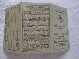 CARTE D'IDENTITE BELGE 1942 - 1900 – 1949
