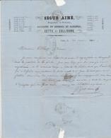 1863 - CETTE Et COLLIOURE - SARDINES & ANCHOIS En Saumure - Propriétaire De Pêcheries SEGUR Aîné - Documentos Históricos