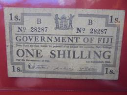FIJI 1 SHILLING 1942 Circuler (B.22) - Fiji