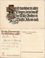 Ansichtskarte  Religiöse Spruchkarte Geburtstag 1928 - Birthday