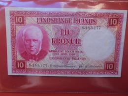 ISLANDE 10 KRONUR 1928 Circuler (B.22) - Iceland