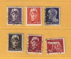 Timbre Italie N° 465 - 467 - 468 - 474 - 475 - 476 - Gebraucht