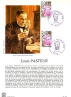 """"""" LOUIS PASTEUR """" Sur Encart 1er Jour De 1973. 2 X N° YT 1768 Parfait état FDC - Louis Pasteur"""