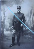 Photo ABL 1914-18 Portrait Officier Belge Uniforme Médailles Décorations Belgische Leger Armée Belge WO1 - Guerra, Militares