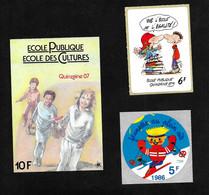 3 Vignettes France - Ecole Publique & Autre - Erinnophile - Autres