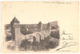 CPA 46 -  CAHORS - Pont Valentré - Dos Non Divisé - Cahors