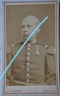 Photo CDV Circa 1875 Portrait Officier Supérieur Armée Belge Belgische Leger - Ancianas (antes De 1900)
