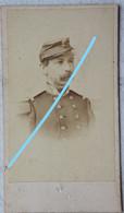Photo CDV Circa 1875 Portrait Officier Supérieur Armée Belge Belgische Leger Photographe Billotte Bruxelles Brussel - Ancianas (antes De 1900)