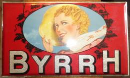 BYRRH - Plaque Publicitaire En Glacoïde, Année 1930 Environs - Très Rare Et En Très Bon état ! - Autres
