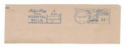 Helps Pay Your Hospital Bills - Rochester 1945 - Meter-Stamp 102607 - Krankenbett Patient Krankenschwester Getränk - Geneeskunde