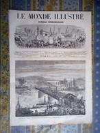LE MONDE ILLUSTRE 23/11/1872 BILLANCOURT REIMS LONDRES AMERIQUE BOSTON GRANT MUSIQUE KOWALSKI TURQUIE CONSTANTINOPLE CHA - 1850 - 1899