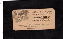 """ODONTOMETRE Cartonné Sur Carte Publicitaire """"Maurice PEEMANS"""" Marchand De Timbres - Unclassified"""
