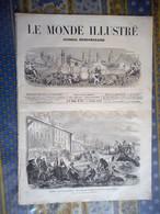 LE MONDE ILLUSTRE 30/11/1872 PARIS CRUE SEINE NANTES DANEMARK CUIRASSIERS LOIRE JOSNE COULMIERS ZANZIBAR ESCLAVAGE - 1850 - 1899