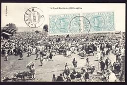 1910 AK, Frankatur Auf Frontseite. Le Grande Marché De Addis Abeba Nach Russikon, Schweiz. Ankunftsstempel. - Etiopía