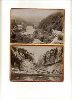 2 CDV Photo Doubs Col Des Roches CH. Pierre Morteau 16X11 Cm - Antiche (ante 1900)