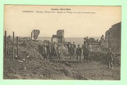 H1064 - Guerre 1914 - 1918 - LESMENILS - Hameau D'Héminville - Entrée Du Village, En Voie De Reconstruction - Other Municipalities