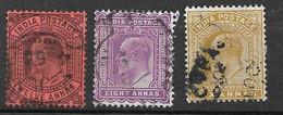 Inde UK Empire N° 64 à 66  Oblitérés  B/TB  Voir Scans Soldé Le Moins Cher Du Site  ! ! - 1902-11 King Edward VII