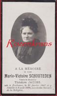 Marie Schouteden Theodore Jacobs 1920 Zonhoven Limburg Bidprentje Met Foto Photo Doodsprentje  Image Mortuaire - Devotion Images