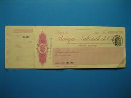 (Années 20) Chèque De La BANQUE NATIONALE De CRÉDIT (Émetteur Henri Chabal) - Cheques & Traveler's Cheques