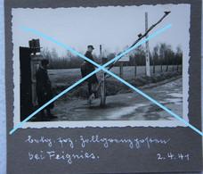 Photo FEIGNIES Région Quévy Le Grand Malplaquet Bettignies Maubeuge Poste De Douane Douanier Zoll Occupation 1941 - Lugares