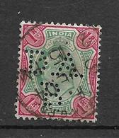 Inde UK Empire   N°67  Perforé DA  B   Oblitéré  B/TB   Voir Scans Soldé Le Moins Cher Du Site  ! ! - 1902-11 King Edward VII