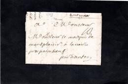 Lettre De 1755 De BERNAY Pour PAIMBOEUF Par NANTES Adressée Monsieur Le Marquis De MONTPLAISIR - Cachet Cire - 1701-1800: Precursors XVIII