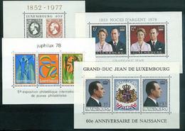 Luxembourg Blocs Feuillets N° 10 à 16 (Y&T)  3 Scans Neufs Sans Charnières Très Frais - Blocks & Sheetlets & Panes