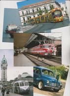 982 CPM Trains, Tramways, Autos, Cars Et Bus Français - - 500 Postcards Min.