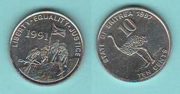 Eritrea 10 Cents 1997 Typological Coin - Eritrea