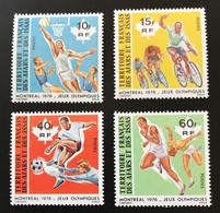AFARS ISSAS 1976 - NEUF**/MNH - YT 431 / 434 - LUXE - RARE - JO MONTREAL - CV 18 EUR - Ungebraucht