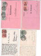 Deutsches Reich , Inflation , 8 Karten - Lettres & Documents