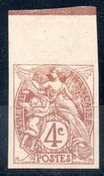 4c Type BLANC N° 110c Bdf - Neuf * - MH - Cote: 200,00 € - Imperforates